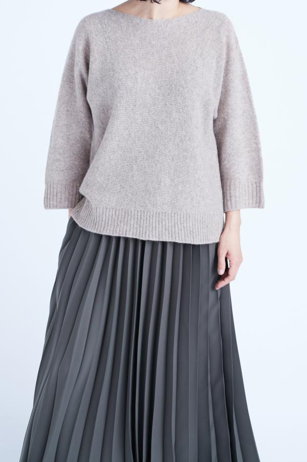 WIDE SLEEVE PULLOVER KNIT