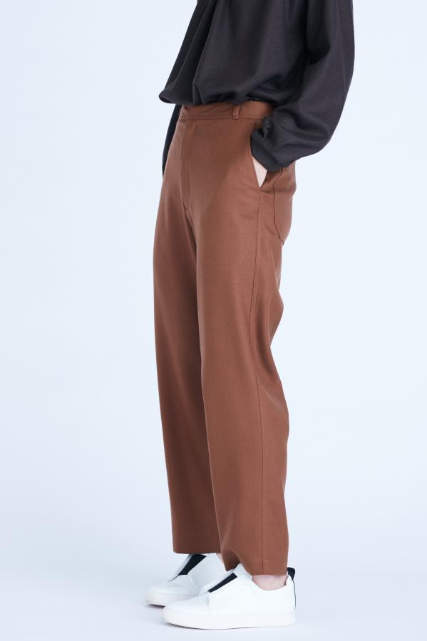 WOOL TAPERED PANTS