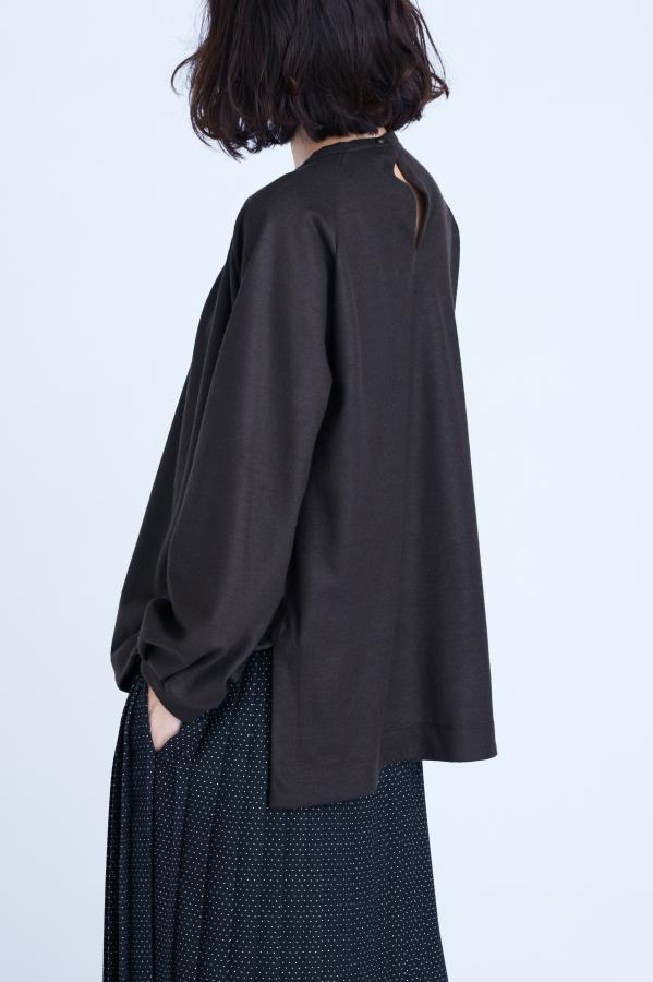 PUFF SLEEVES JERSEY TOP