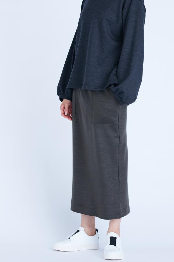 WASHED JERSEY SKIRT