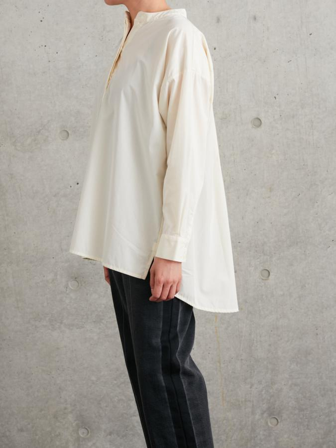 GIZA COTTON BAND COLLAR SHIRT