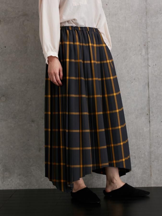 INDIA CHECK PLEAT SKIRT