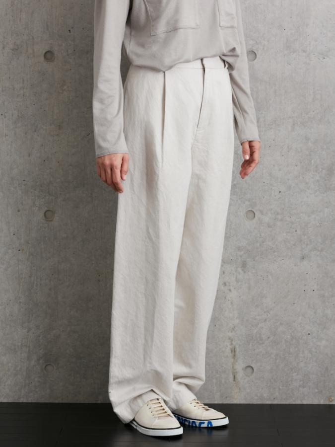 HERRINBONE WIDE PANTS