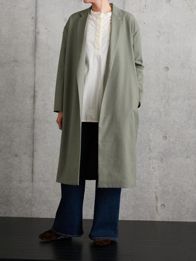 NOTCHED LAPEL COAT