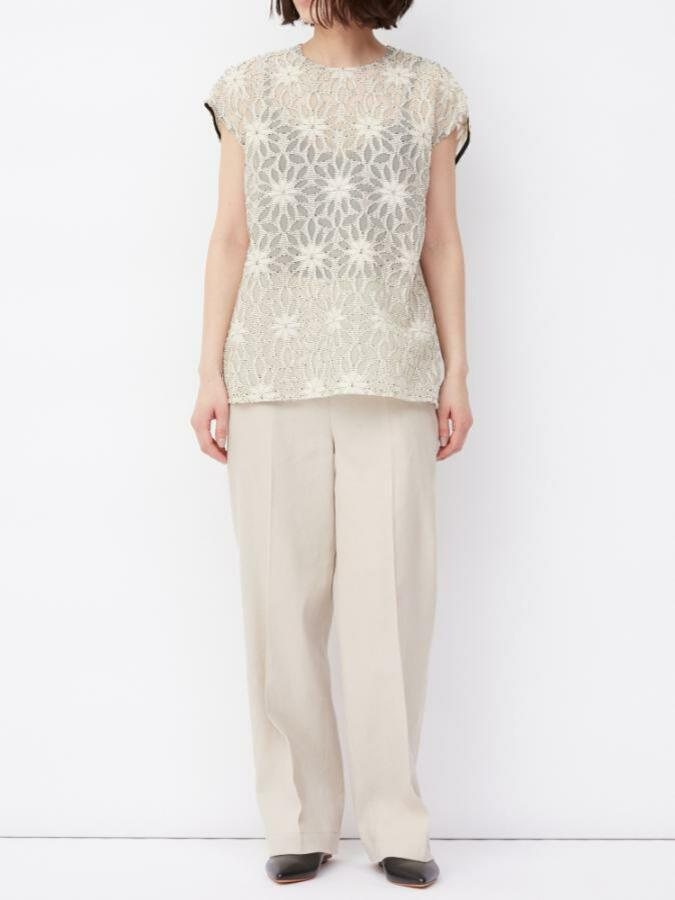 FLOWER JACQUARD TOP
