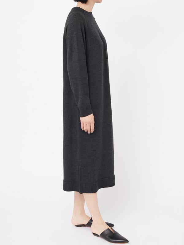 CREW NECK KNIT DRESS