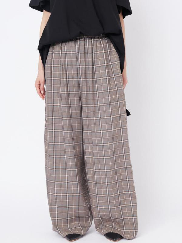 CHECKERED WIDE PANTS