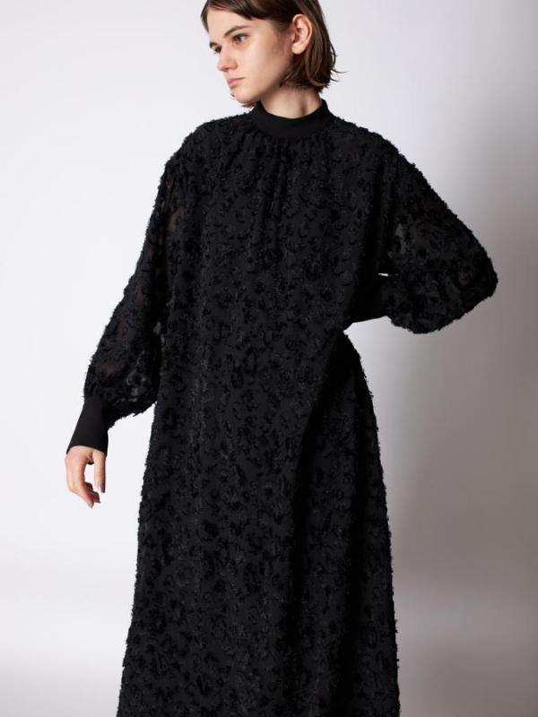 Jacquard High Neck Dress