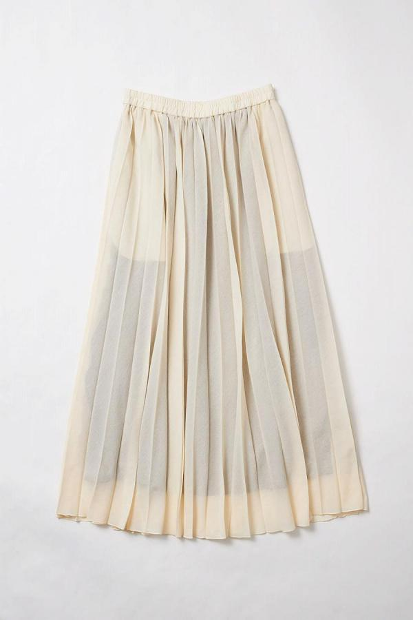Pleat Flare Skirt