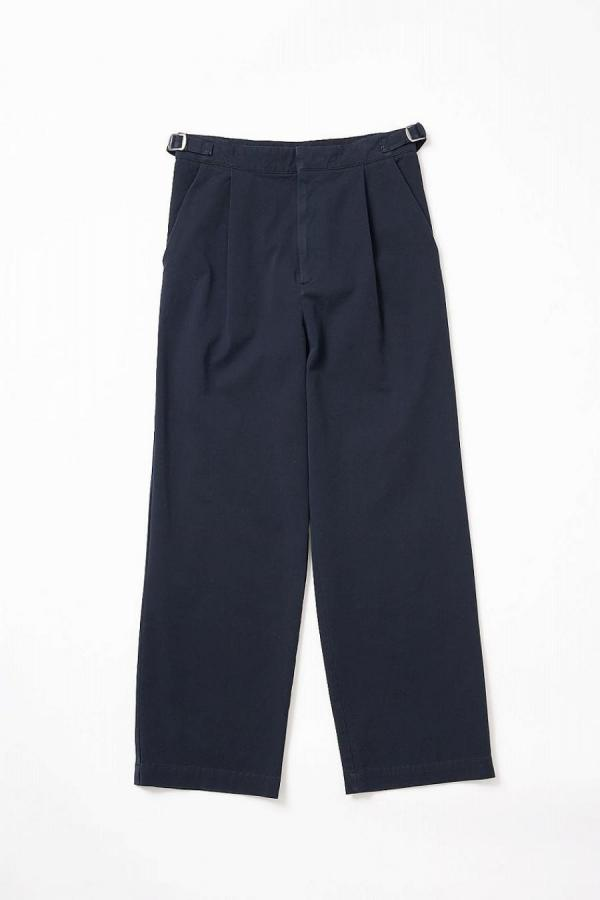 Side Belt Stretch Wide pants