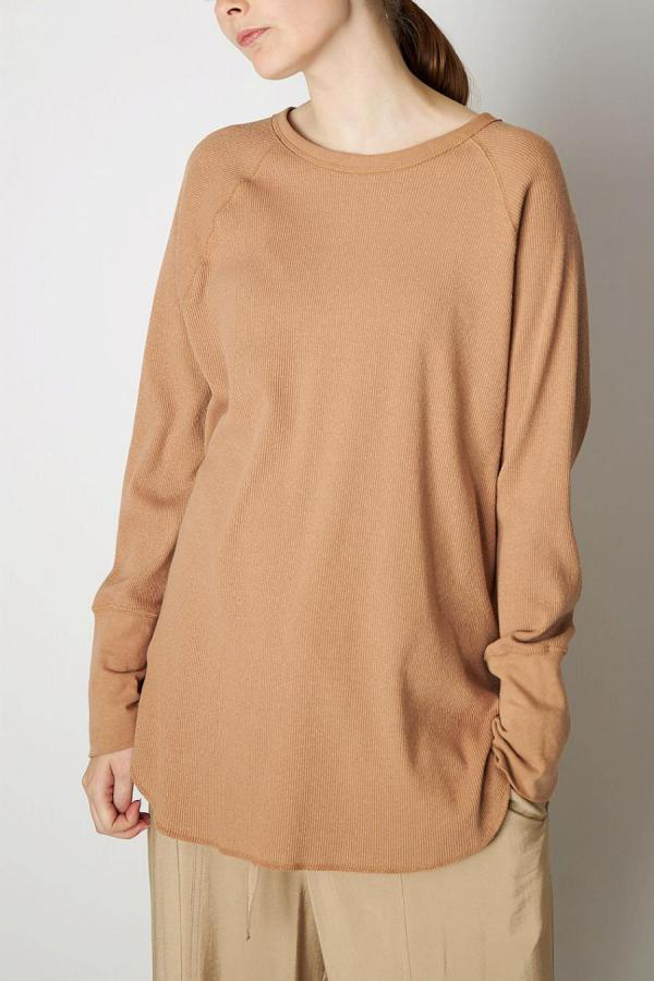 Silk Nep Long-Sleeve Top