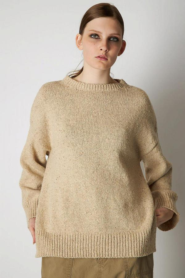 Natural Crew Neck Knit