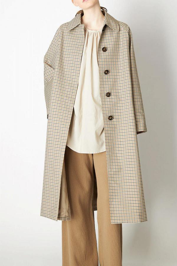Balmacaan Check Coat