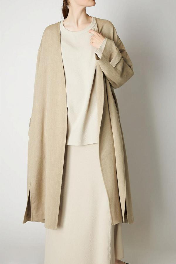 Linen Nobutton Coat