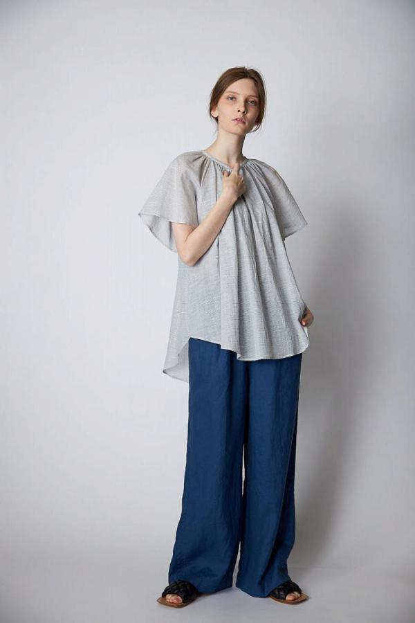Border Gather Blouse
