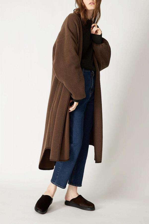 Pile Knit Long Coat