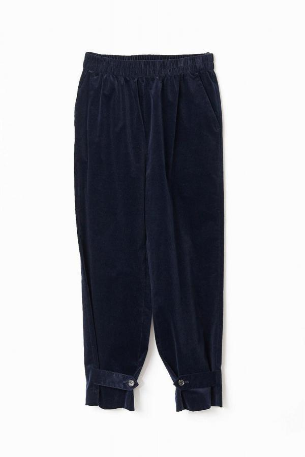 Ankle Detail Corduroy Pants