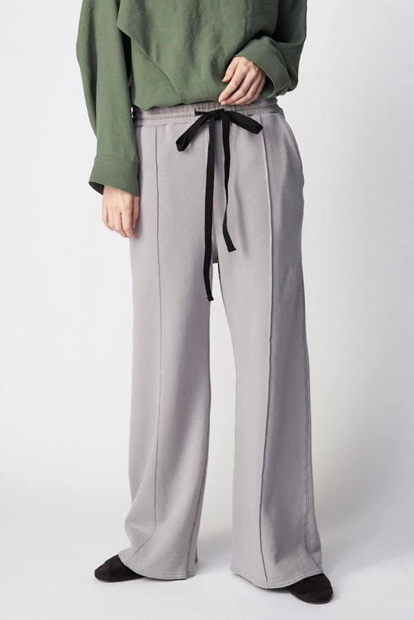 Cotton Sweat Wide Pants