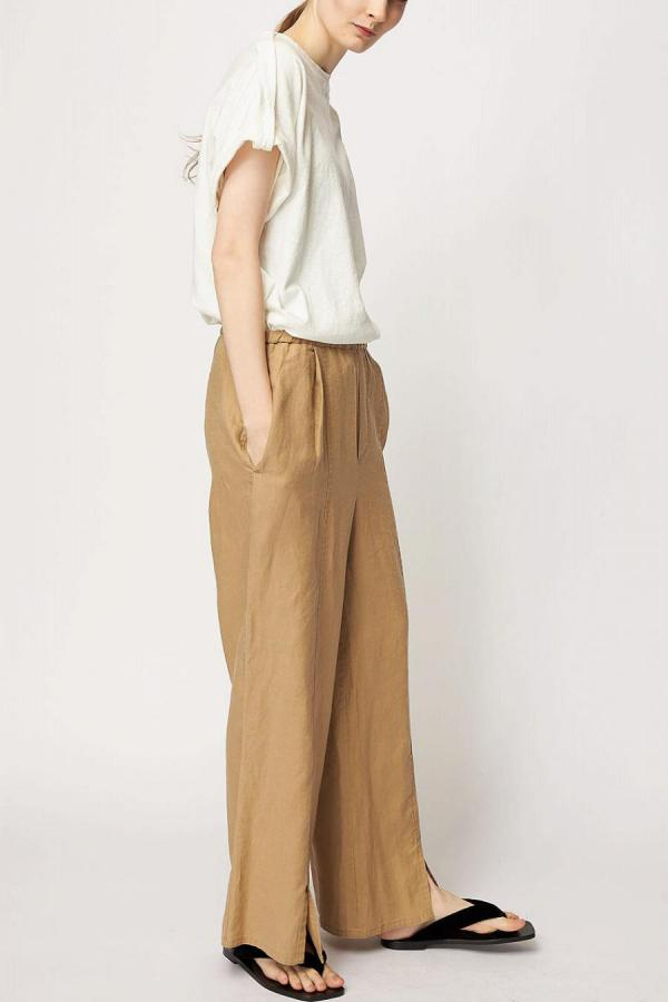 Front Slit Wide Pants