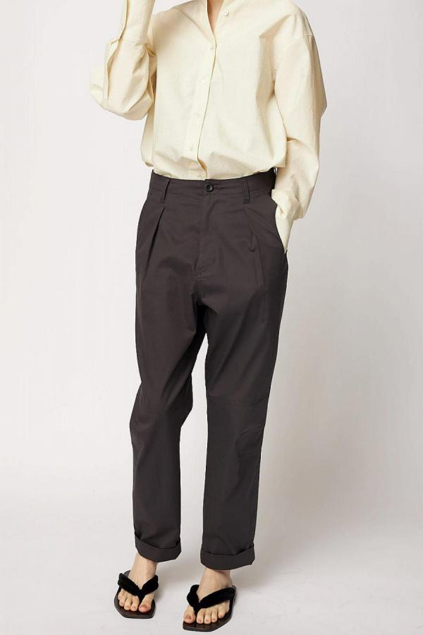 French Linen Tapered Trousers
