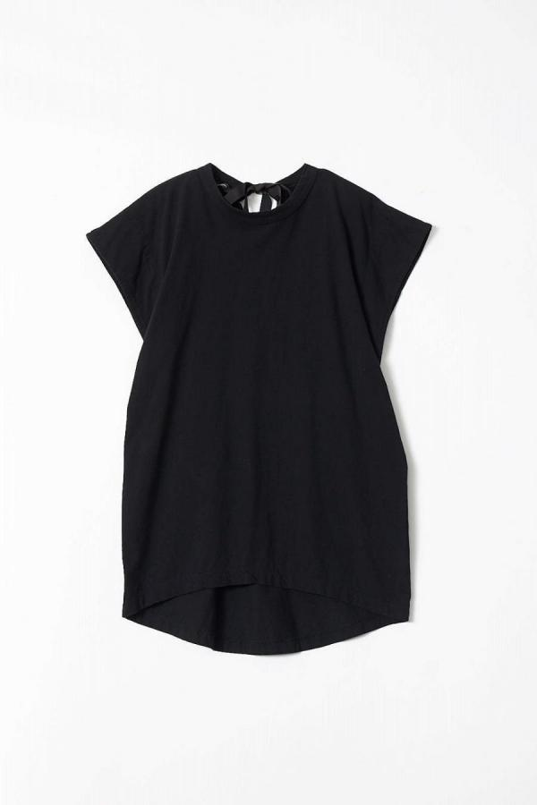 Back Ribbon French Sleeve T-shirt