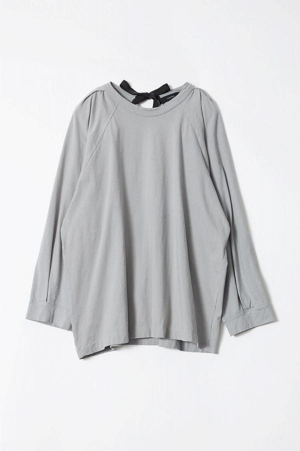 Back Ribbon Long Sleeve Tops