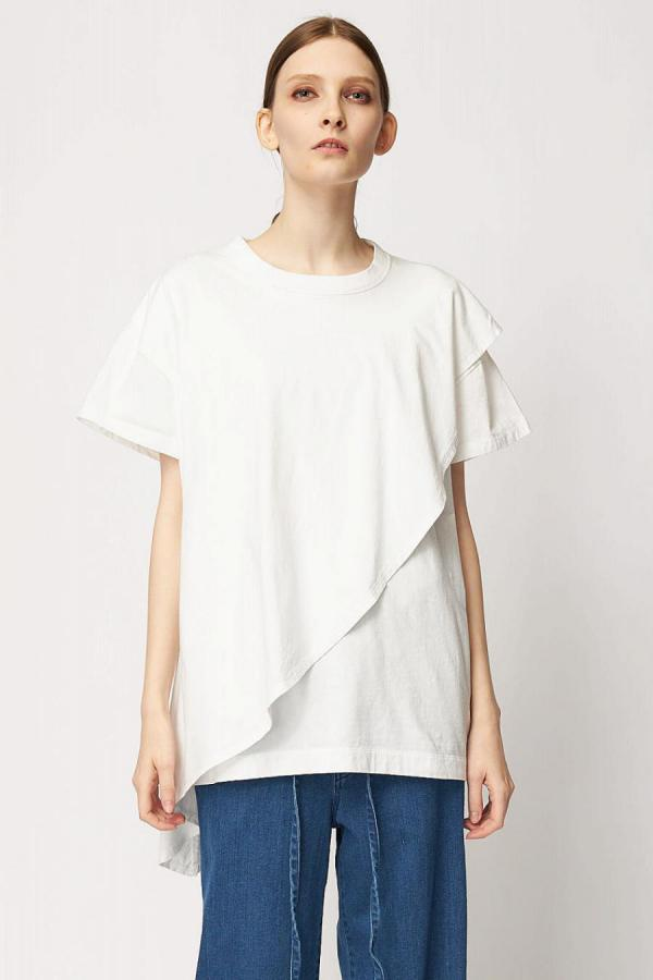 Cotton Asymmetric Tops