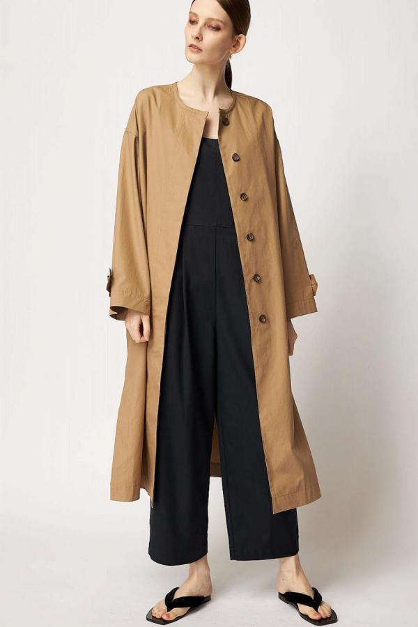 No Collar Long Coat