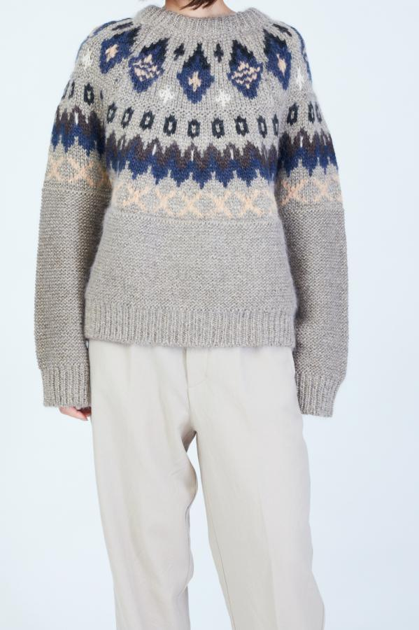 NORDIC PATTERN PULLOVER KNIT