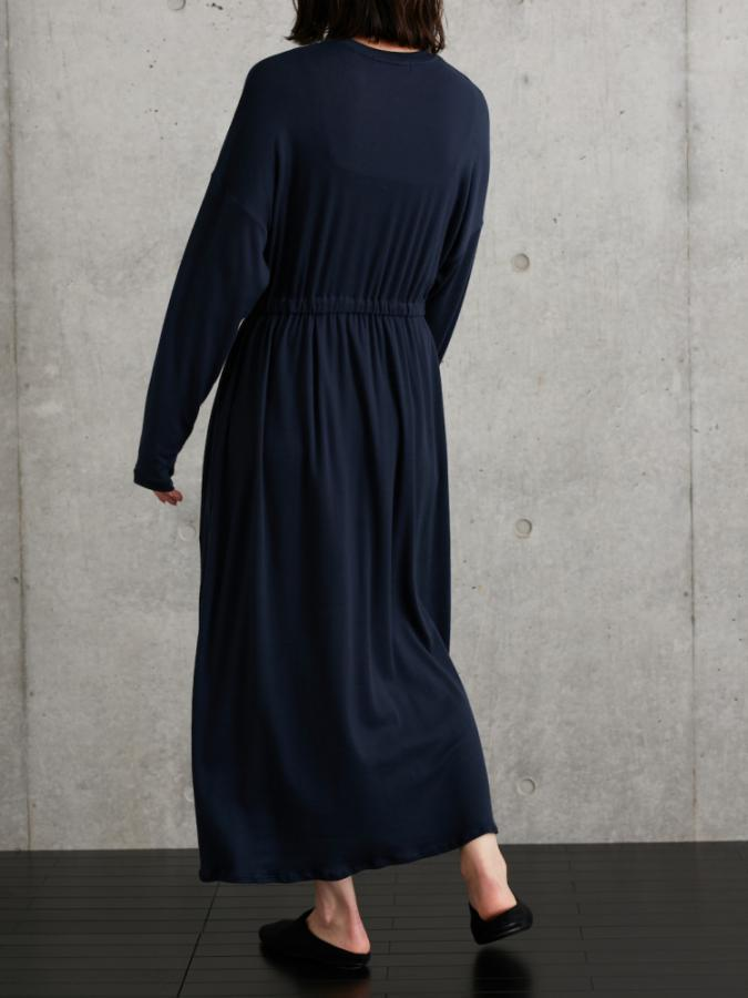 STRETCHING ROUND NECK DRESS