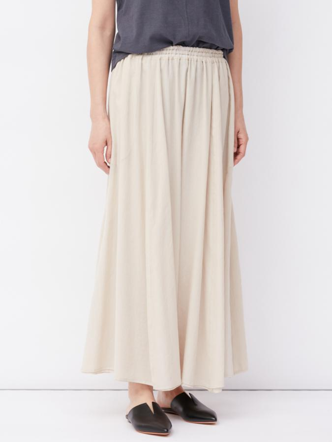 COTTON CHIFFON MAXI SKIRT