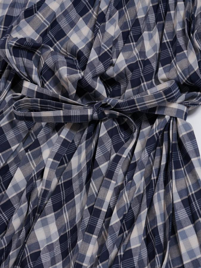 PLEATED DRESS IN CHECK