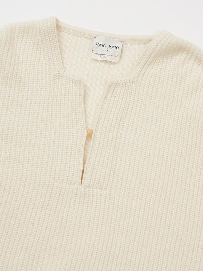 Ribbed knit in pure cashmere