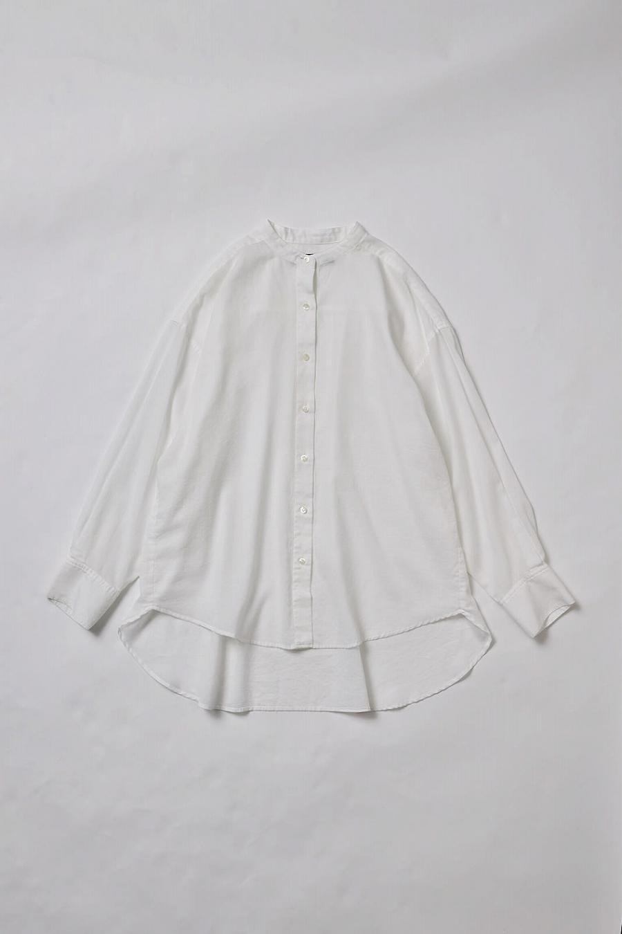 Cotton Georgette Band Collar Blouse