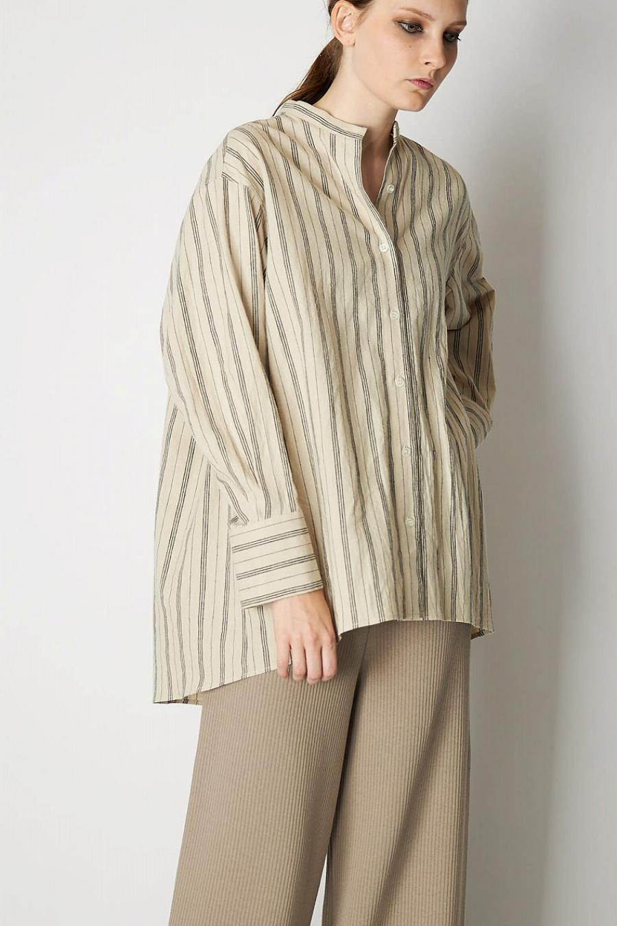 Cotton Linen Stripe Shirt
