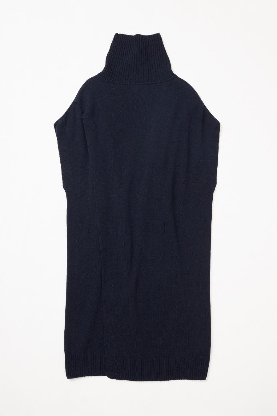 Turtleneck Sleeveless Long Sweater