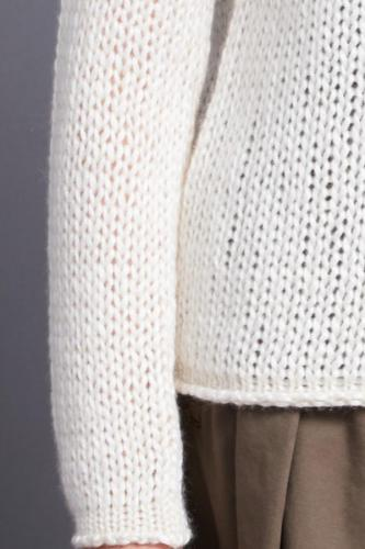 Cashmere, mohair and silk round neck