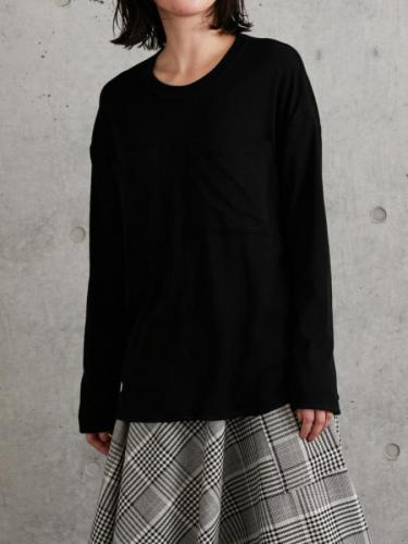 CHEST POCKET ROUND NECK PULLOVER